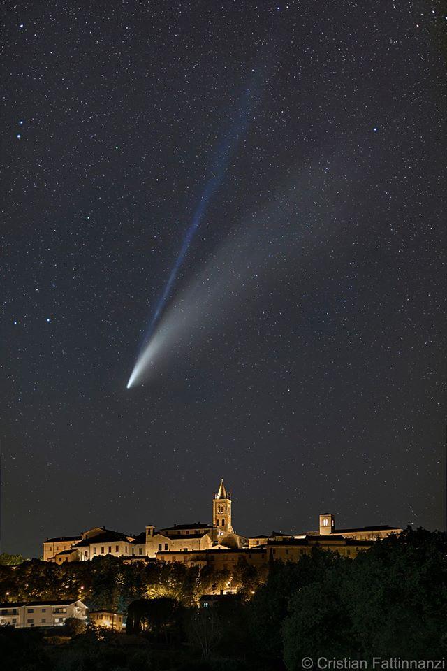 Neowise Italy تصاویر خیره کننده از رصد دنبالهدار نئووایز اخبار IT