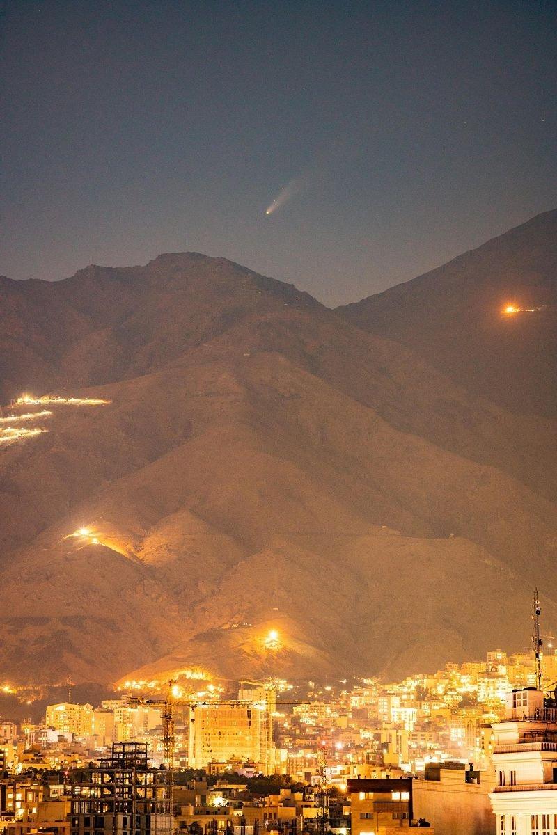 Neowise Tehran Iran تصاویر خیره کننده از رصد دنبالهدار نئووایز اخبار IT