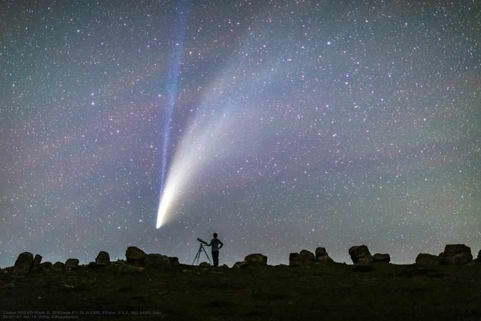 تصاویر خیره کننده از رصد دنبالهدار نئووایز
