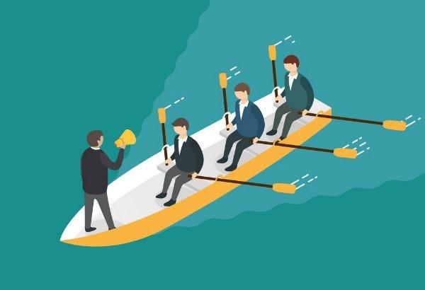 businessman rowing team teamwork concept vector 11997258 ۵ روش کارآمد و ساده برای افزایش انگیزه کارکنان اخبار IT