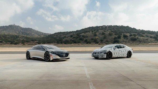 mercedes eqs concept 5 هشدار برای تسلا مدل S؛ پیمایش 700 کیلومتری مرسدس بنز EQS تایید شد اخبار IT