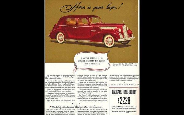 8 packard 180 ad 1940 2 مروری بر تاریخچه سیستم تهویه مطبوع؛ از کارخانه کاغذسازی تا داشبورد خودروها اخبار IT