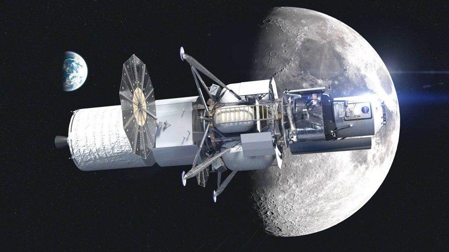 Full scale engineering mock up of next gen American lunar lander unveiled 1 بلو اوریجین از ماکت فرودگر ماه رونمایی کرد؛ تحویل به ناسا برای آزمایشات اخبار IT