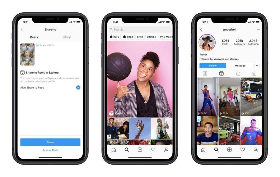 Instagram launches Reels its attempt to keep you off TikTok 0 اینستاگرام قابلیت Reels را در بیش از ۵۰ کشور فعال کرد اخبار IT