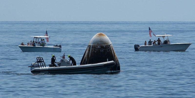 Space X Crew Dragon بازگشت موفق فضانوردان ناسا با کپسول کرو دراگون [تماشا کنید] اخبار IT