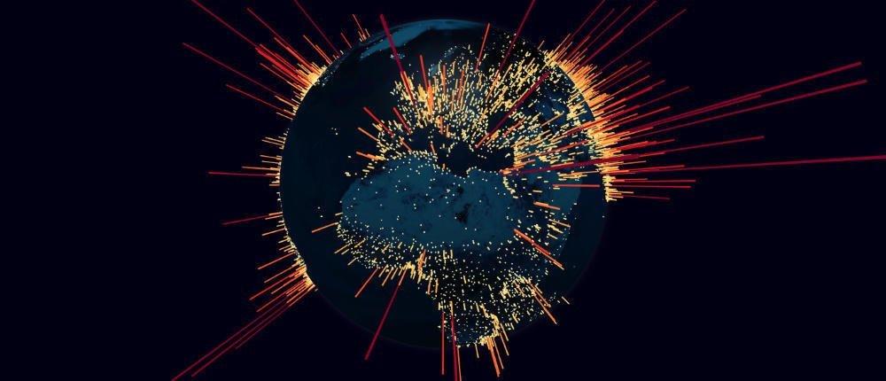 ddos internet globe map به مناسبت روز جهانی اینترنت: مروری بر تاریخچه ۵۱ ساله اینترنت اخبار IT