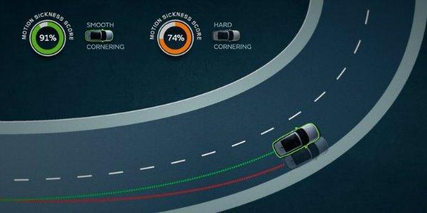 jlr motion sickness cornering 1597356533 جگوار لندرور به دنبال حذف ماشینگرفتگی در اتومبیلهای خودران آینده است اخبار IT
