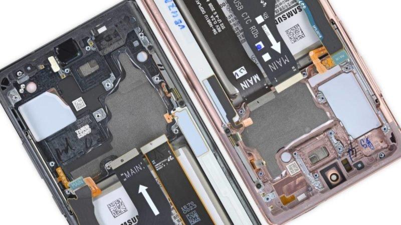 شفاف سازی iFixit در مورد سیستم های خنک کننده گلکسی نوت 20 و نوت 20 اولترا