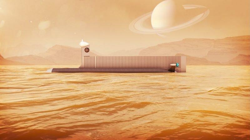 پرتاب زیردریایی فضایی به قمر زحل