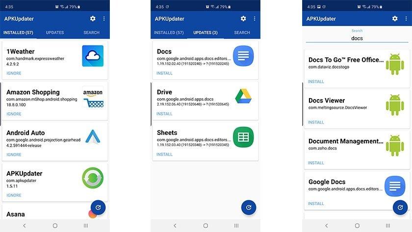 APKUpdater screenshot April 2019 بهترین جایگزین های گوگل پلی که همه اندرویدی ها باید بشناسند اخبار IT