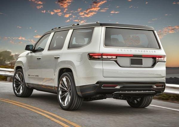 Jeep Grand Wagoneer Concept 2020 2 نگاهی به مشخصات کانسپت جیپ گرند واگنیر با هفت نمایشگر داخلی و فنربندی بادی اخبار IT