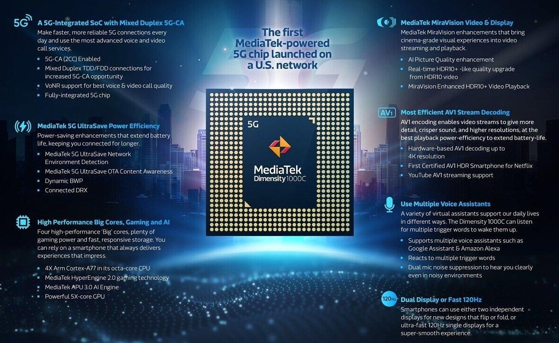 MediaTek Dimensity 1000C چیپست مدیاتک دیمنسیتی1000C با پشتیبانی از 5G معرفی شد اخبار IT