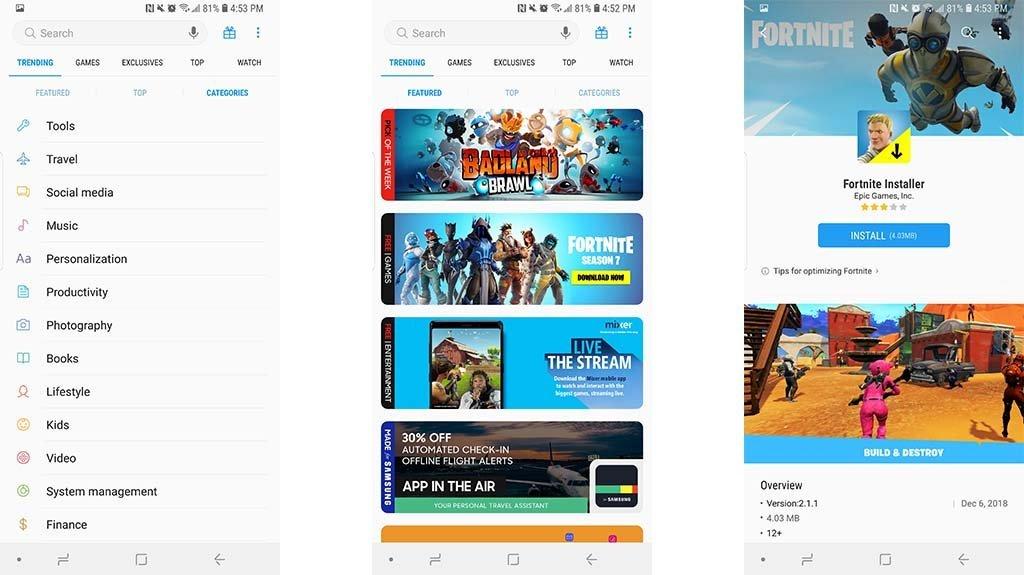 Samsung Galaxy Apps screenshot بهترین جایگزین های گوگل پلی که همه اندرویدی ها باید بشناسند اخبار IT