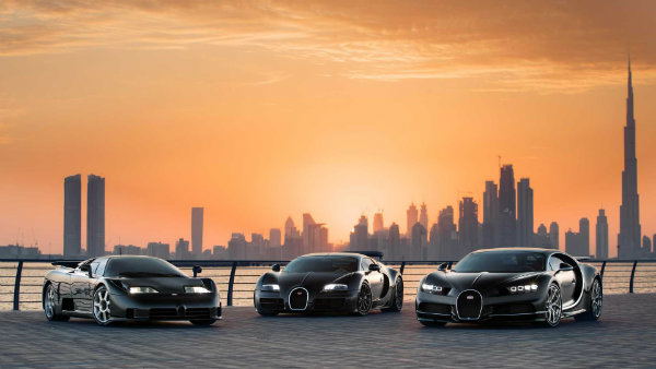 bugatti chiron veyron and eb110 in dubai 2 احتمال فروش برند بوگاتی توسط فولکس واگن؛ بمب خبری جهان خودرو اخبار IT