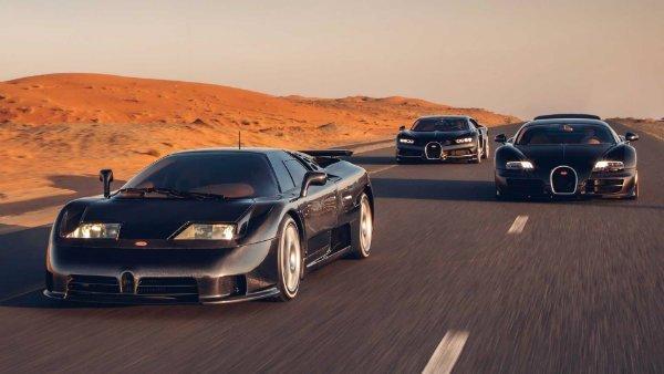 bugatti chiron veyron and eb110 in dubai 3 احتمال فروش برند بوگاتی توسط فولکس واگن؛ بمب خبری جهان خودرو اخبار IT