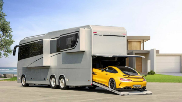 با وریو پرفکت 1200 پلاتینوم آشنا شوید؛ خانه متحرک با قابلیت حمل مرسدس AMG GT