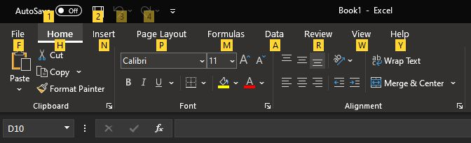 Excel Alt Toolbar Shortcuts چگونه در اکسل کلید میانبر بسازیم؟ اخبار IT
