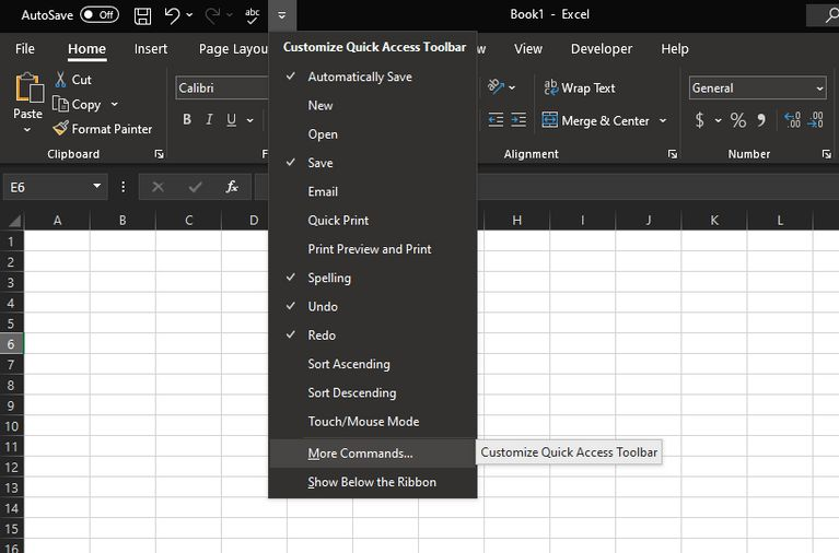 Excel Customize Quick Access Toolbar Wide چگونه در اکسل کلید میانبر بسازیم؟ اخبار IT