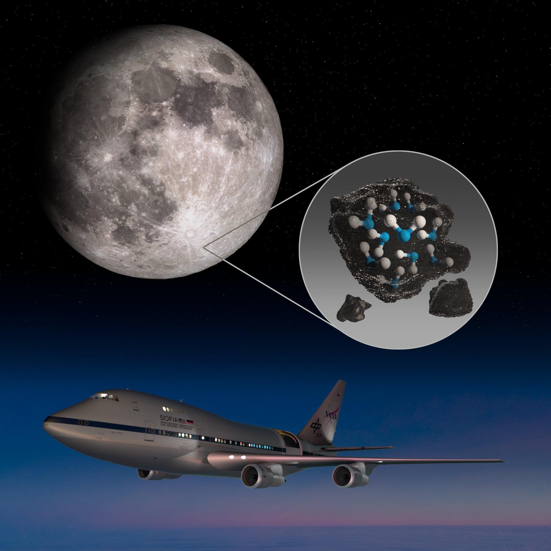 Nasa Sofia Moon Water کشف جدید ناسا از وجود آب بیشتر روی سطح ماه خبر میدهد اخبار IT