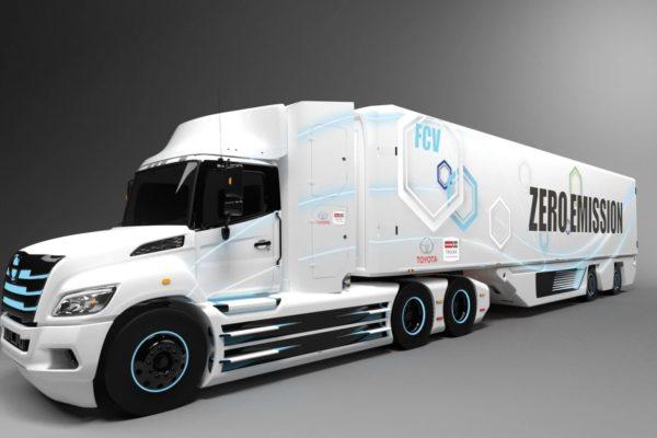 Totoya Hino Fuel Cell Truck 600x400 فناوری عملیاتی کمپانی بوش برای تولید کشندههای سلول سوختی هیدروژنی اخبار IT