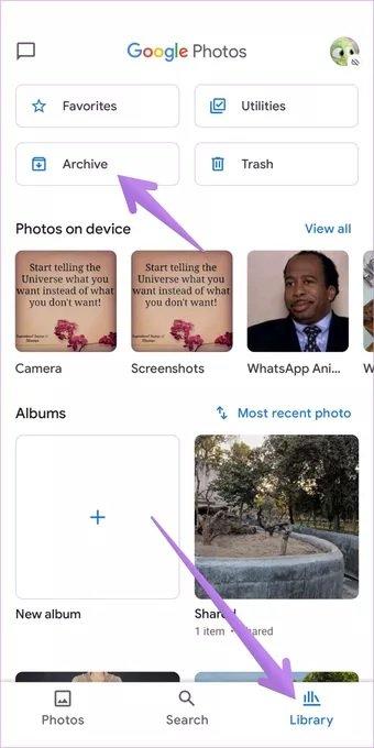 مخفی کردن عکس در گوگل فوتوز