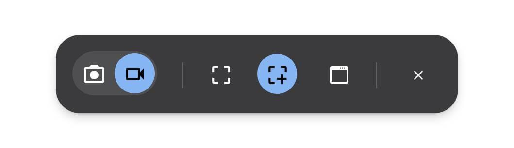 capture mode bar ابزار تصویربرداری و عکسبرداری به سیستم عامل گوگل کروم اضافه شد اخبار IT