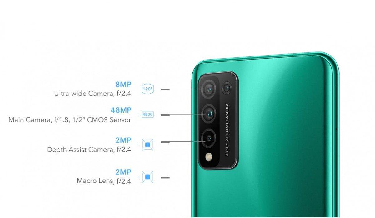gsmarena 004 10 آنرX10 لایت با دوربین چهارگانه و چیپست کرین ۷۱۰ معرفی شد اخبار IT