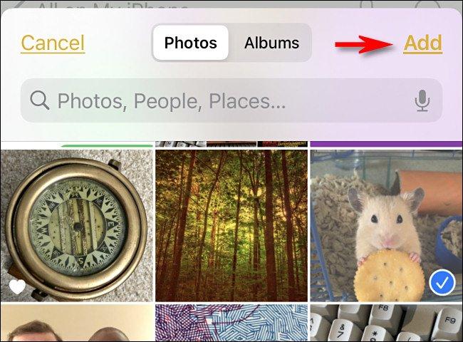 notes add photos یک راه ساده برای گذاشتن پسورد روی عکسها در آیفون و آیپد اخبار IT