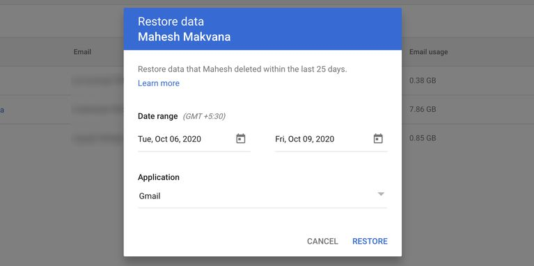 restore emails gmail workspace چگونه ایمیلهای حذف شده در جیمیل را بازیابی کنیم؟ اخبار IT