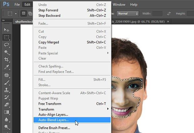 تغییر چهره در فتوشاپ