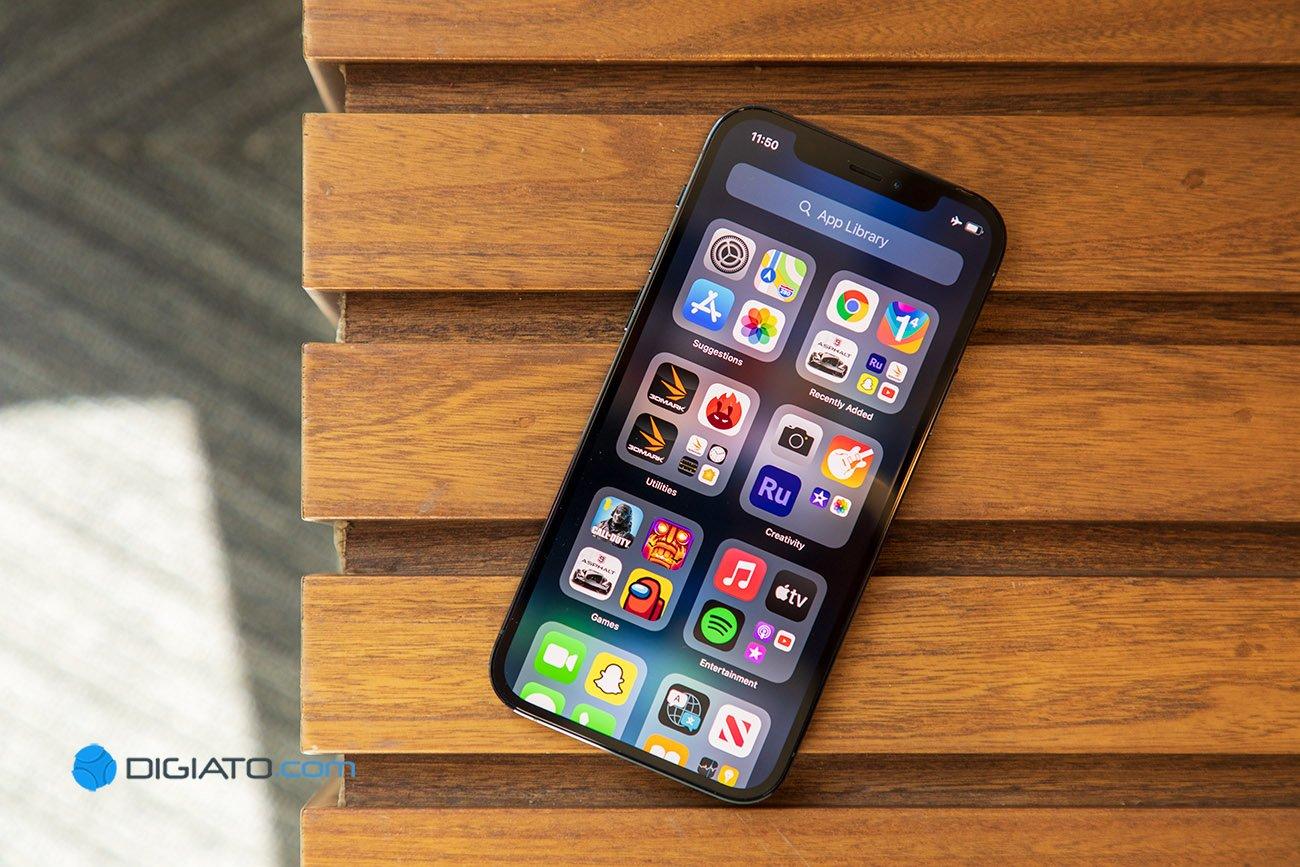 Digipic iPhone12Pro 02 نسل بعدی آیفون با سنسور اثر انگشت زیر نمایشگر اپتیکال از راه میرسد اخبار IT