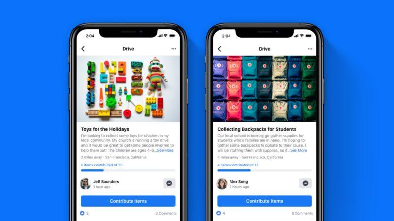 فیسبوک قابلیت «درایو» را با هدف جمعآوری کمک برای نیازمندان راهاندازی کرد