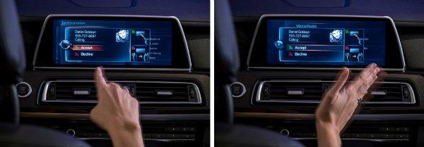 Learn How To Use the BMW 5 Series Gesture Control Feature o مروری بر نقش نمایشگرهای بزرگ در خودروها؛ آپشنی جذاب یا عامل حواسپرتی راننده؟ اخبار IT