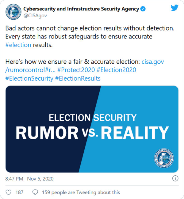Screenshot 2020 11 07 How Facebook Twitter and Others Are Handling Election Misinformation w600 شبکههای اجتماعی چطور با اطلاعات کذب انتخاباتی مقابله کردند اخبار IT
