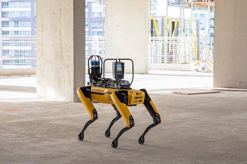 foster partners boston dynamics construction progress spot designboom 02 نظارت سگ رباتیک اسپات بر پیشرفت پروژه ساختمانی [تماشا کنید] اخبار IT