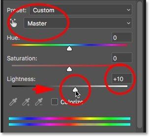 hue saturation master lightness چگونه در فتوشاپ دندانها را سفید و درخشنده کنیم؟ اخبار IT