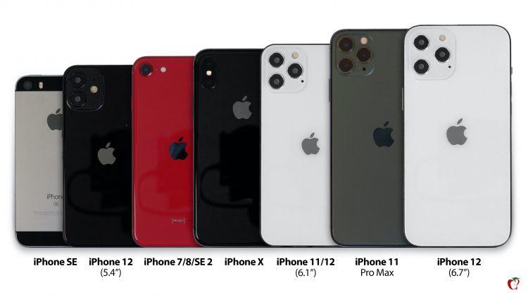 iphone 12 grootte 750x422 بررسی آیفون 12 مینی از نگاه وبسایتهای معتبر حوزه فناوری اخبار IT