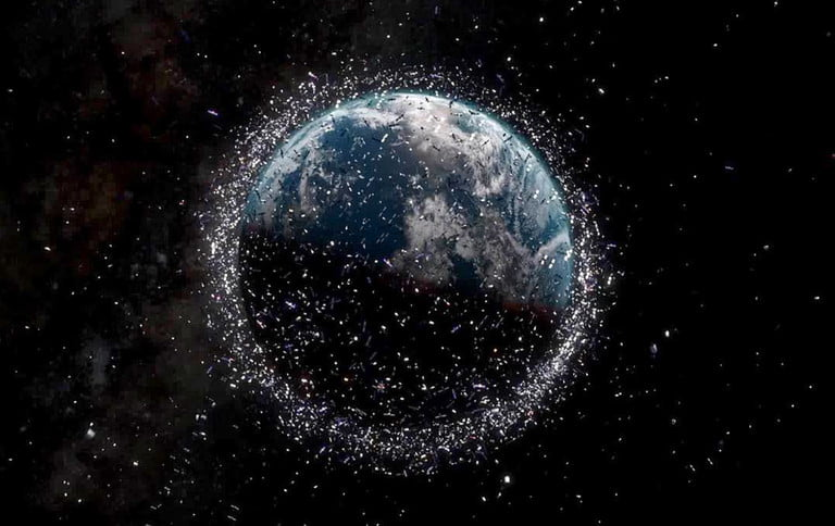 space debris junk hero استقرار هزاران ماهواره در مدار زمین برای ارائه اینترنت چه مزایا و معایبی دارد؟ اخبار IT