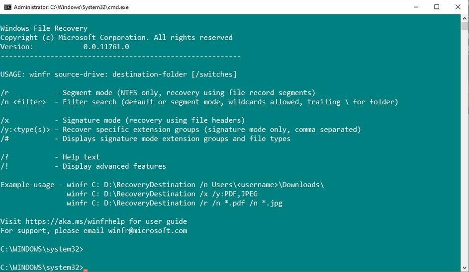 ابزار ریکاوری فایل ویندوز