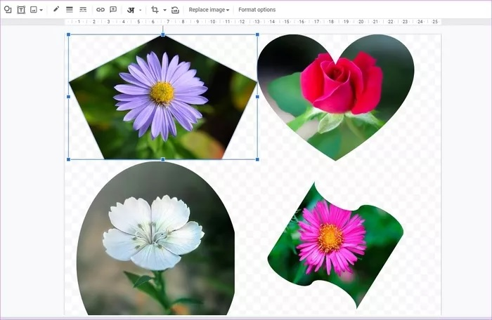 ساخت تصاویر کلاژ با Google Drawings
