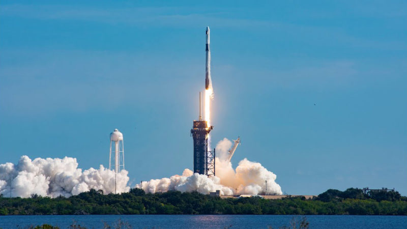 پرتاب موفق کپسول دراگون ۲ به ایستگاه فضایی بین المللی [تماشا کنید]