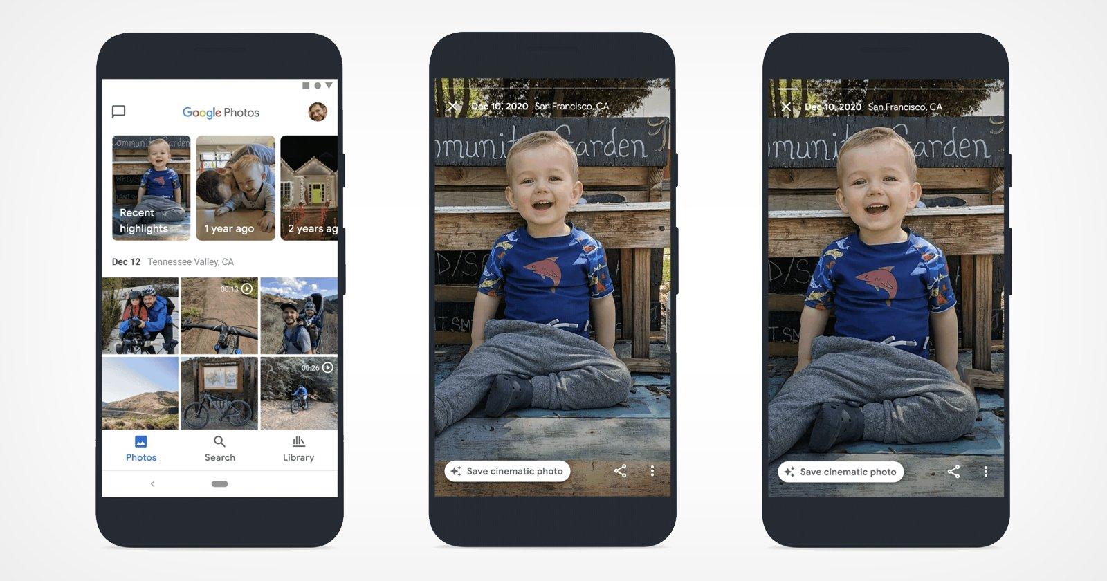 گوگل فوتوز با هوش مصنوعی عکسهای معمولی را به تصاویر سه بعدی تبدیل میکند