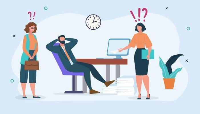 illustration careless manager concerned employees بهای سنگین و پنهانی که بنیانگذاران استارتاپها میپردازند اخبار IT
