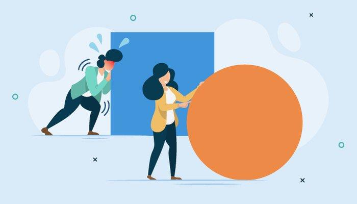 illustration women pushing square ball بهای سنگین و پنهانی که بنیانگذاران استارتاپها میپردازند اخبار IT