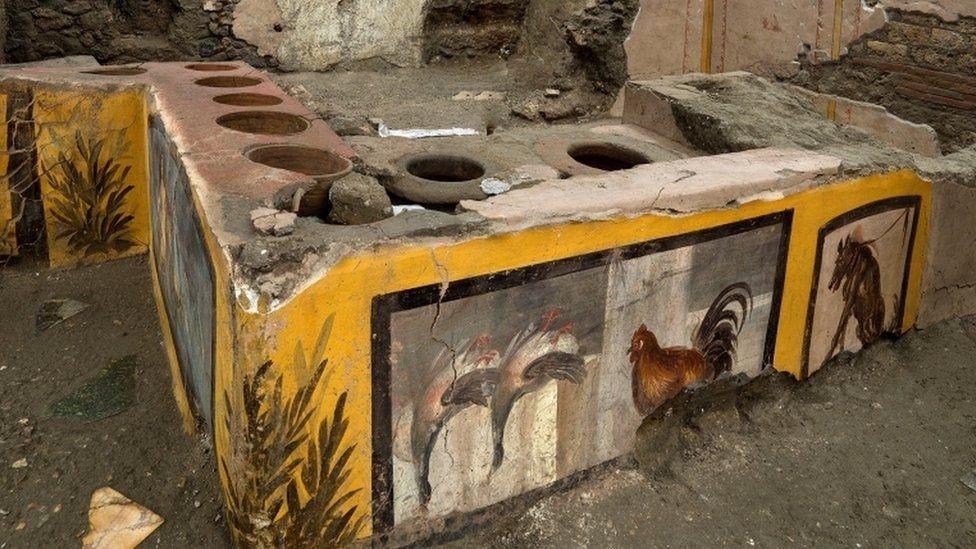 2رو کشف دکه فروش غذا با قدمت دو هزار سال در خیابانهای پمپئی اخبار IT
