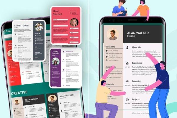 آشنایی با اپ Resume Builder؛ به سرعت رزومه انگلیسی بسازید