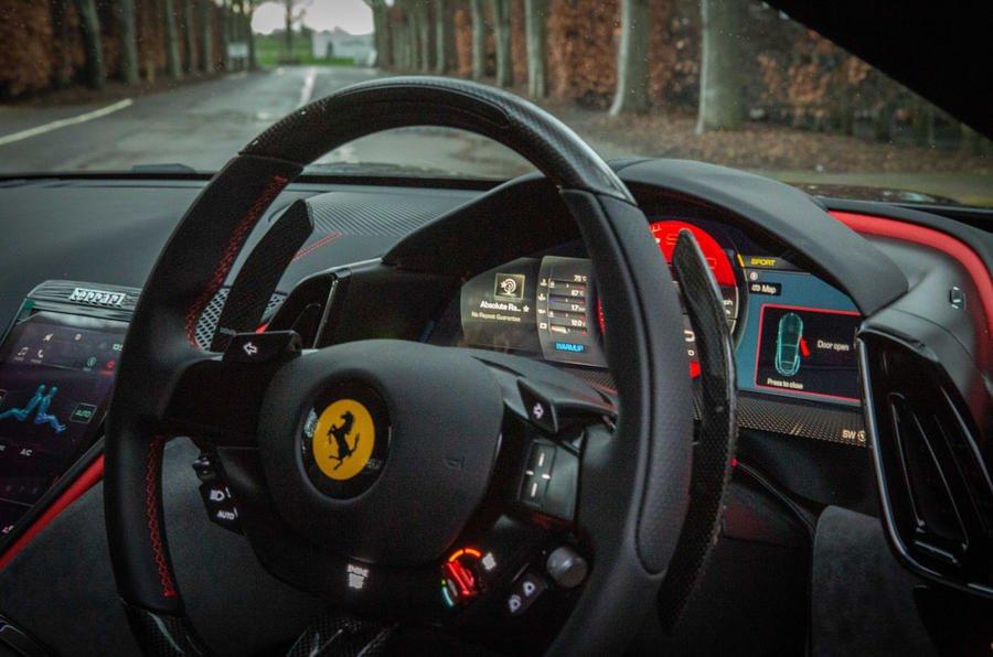 6 ferrari roma 2021 uk first drive review dashboard تجربه رانندگی با فراری روما؛ فراتر از یک کوپه خانوادگی اخبار IT