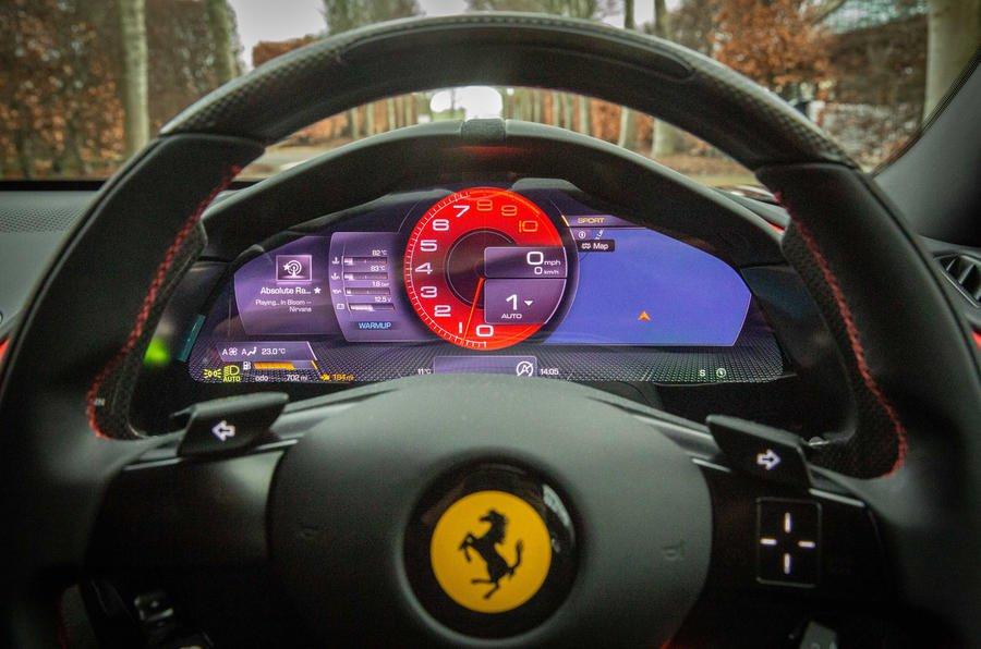 7 ferrari roma 2021 uk first drive review instruments تجربه رانندگی با فراری روما؛ فراتر از یک کوپه خانوادگی اخبار IT