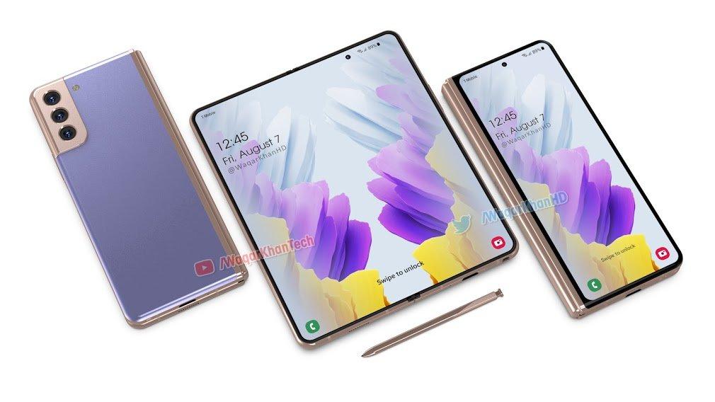 Samsung Galaxy Z Fold 3 Render 2 انتشار رندرهای سامسونگ گلکسی زد فولد ۳: ترکیبی از نسل قبلی و گلکسی S21 اخبار IT