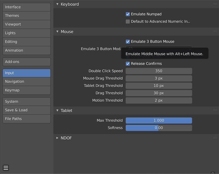blender input settings آموزش مقدماتی Blender؛ هرآنچه ضروریست درباره این نرم افزار طراحی بدانید اخبار IT